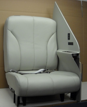 P/N 4417013-1, FWD, Side Facing Seat with Partition, Citation 680 Sovereign